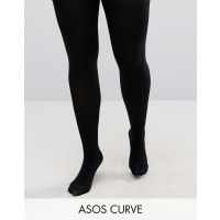 Asos CurveSuper Stretch New And Improved Fit Tights 140 Denier Tights - Black