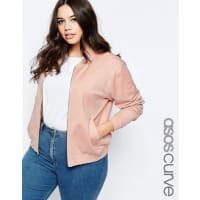 Asos CurveUltimate - Bomber - Rosa