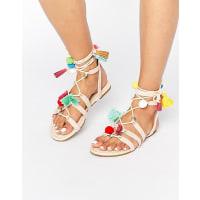 AsosFERA Novelty Pom Sandals