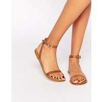 AsosFINLAY Leather Flat Sandals - Tan