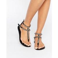 AsosFORUM Embellished Flat Sandals