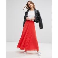 AsosPleated Maxi Skirt - Coral