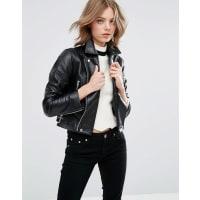 AsosJacke aus weichem Premium-Leder - Schwarz