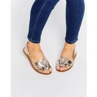 AsosJULIEN Leather Embellished Shoes - Silver