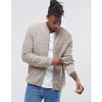AsosBomber in maglia e soffice filato - Beige