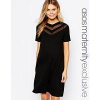Asos MaternityChevron T shirt Dress - Black