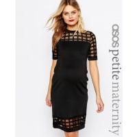 Asos MaternityPETITE Cage Insert Bodycon Dress - Black