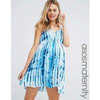 Asos MaternityBeach Tie Dye Mini Dress - Multi