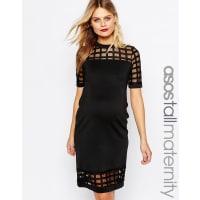 Asos MaternityTALL Cage Insert Bodycon Dress - Black
