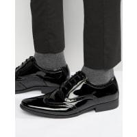 AsosOxford Brogue Shoes in Black Patent - Black