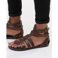 AsosGladiator Sandals in Leather - Brown