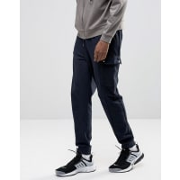 AsosStandard Fit Joggers With Cargo Pockets In Navy - Blue