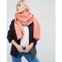 AsosSupersoft Long Woven Scarf - Coral