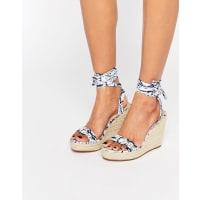 AsosTALENT Tie Leg Wedge Sandals