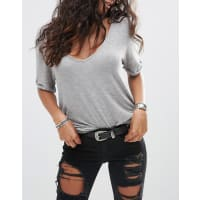 AsosCintura per jeans con dettaglio triangolare - Nero