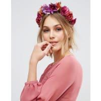 AsosWEDDING - Vorn oder hinten zu tragender Blumen-Haarschmuck - Mehrfarbig