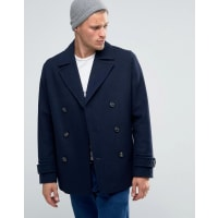AsosWool Mix Peacoat In Navy - Navy