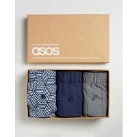 AsosWebunterhosen mit Geo-Muster in Geschenkverpackung, 3er-Pack, 14% RABATT - Mehrfarbig