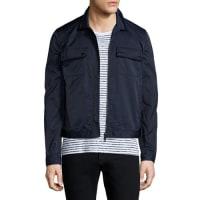 ATM Anthony Thomas MelilloTech Zip-Up Shirt Jacket, Navy