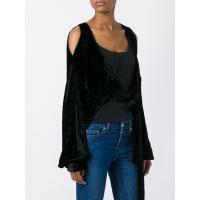 Atticotied velvet bolero, Womens, Size: 3, Black, Viscose/Silk