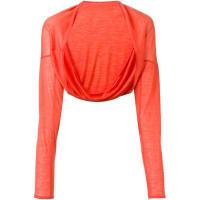 Aviùfine knit bolero, Womens, Yellow/Orange, Cashmere