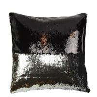 Aviva Stanoff DesignMermaid Sequin PillowBlack and Silver - 20x20