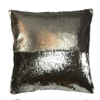 Aviva Stanoff DesignMermaid Sequin PillowSmoke and Chrome - 20x20