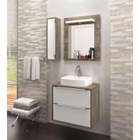 BalconyGabinete para Banheiro Suspenso com Espelheira Nicho e Cuba Ravena 60cm