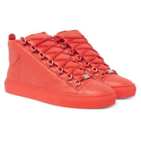 BalenciagaArena Creased-leather High-top Sneakers - Orange