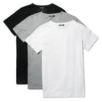 BalmainThree-pack Slim-fit Distressed Cotton-jersey T-shirts - Gray