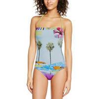 Banana MoonHans - Maillot de bain une pièce - Imprimé complet - Femme - Multicolore (Lagon Sunset) - FR: 36 (Taille fabricant: 36)