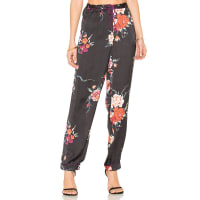 Band Of GypsiesBotanical Floral Pant in Black