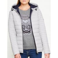 BarbourLandry Baffle Quilted Jacket - Silver Ice, Size 12