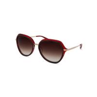 Barton PerreiraLeilani Oversize Round Titanium Sunglasses, Tortoise/Red