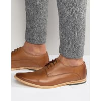 Base LondonCashe Leather Derby Shoes - Tan