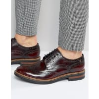 Base LondonWoburn - Scarpe brogue in pelle extra lucida - Rosso