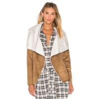 BB DakotaBourne Jacket with Faux Fur Lining in Brown