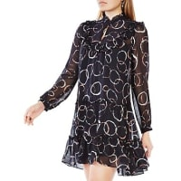 BcbgmaxazriaBeccy Printed Silk Dress