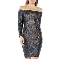 BcbgmaxazriaSequin Off-The-Shoulder Dress