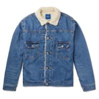 BeamsJapan Faux Shearling-lined Denim Jacket - Blue