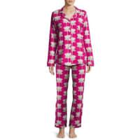 BedHeadLotus Land Classic Pajama Set, Print