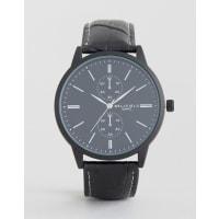 BellfieldBlack Watch with Imitation Inner Dials - Black