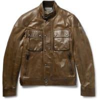 BelstaffRacemaster Leather Jacket - Hellbraun