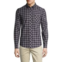 Ben ShermanCheckered Button Down Sportshirt