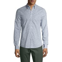 Ben ShermanHerringbone Long Sleeve Sportshirt