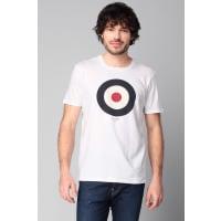 Ben ShermanPrint Shirts - bemb12872 target tee basic - Weiß / Naturfarben