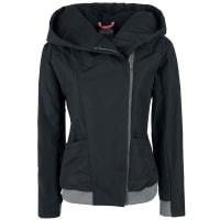 BenchCosy Hood Asymetrical Jacket Girl-Jacke schwarz