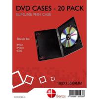 BenzaDVD opberg doosje - Slimeline Case - 20 stuks