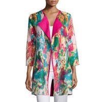 BerekWatercolor Crinkled Reversible Jacket