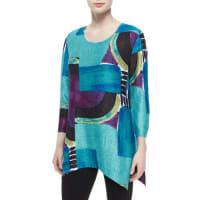 Berek3/4-Sleeve Abstract-Print Tunic